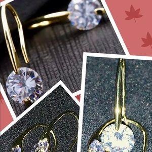 24k gold crystal earrings